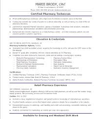 senior certified pharmacy technician resume sample examples tech hospital  template free .