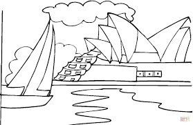 Small Picture Opera House in Sydney coloring page Free Printable Coloring Pages