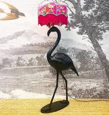 Black Gloss Flamingo Lamp Base Base Only Shade Not Inc By Muck N