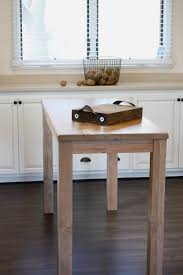 Gray Pub Height Dining Table Next To Gray Kitchen Island White Wood