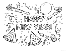 Small Picture Happy New Year Coloring Pages Printable Car Gekimoe 39802