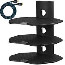 shelf tv component wall mount shelving