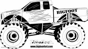Coloring Pages Of Monster Trucks Grave Digger Cool Monster Jam