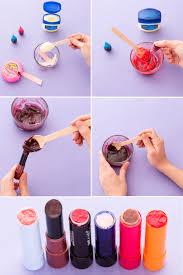 diy your own lipstick using vaseline bubblegum as a base then create a custom