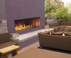 rose 60 outdoor linear fireplace