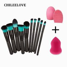 chileelove base cosmetics makeover makeup brushes kit wash egg powder puff make up tool powder puff cosmetics tools make up brush with