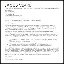Cover Letter Administrative Manager Administrative Services Manager