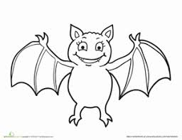 Small Picture Coloring Pages Of A Bat Fun for Halloween