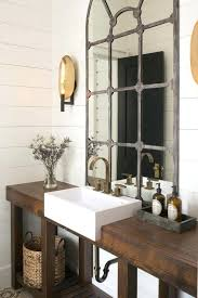 industrial bathroom vanity lighting. Trendy And Chic Industrial Bathroom Vanity Ideas Rustic With A Stained Reclaimed Wood Shelf For Lighting O