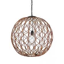 sphere pendant light. Infinity Wicker Sphere Pendant Lamp, Rustic Brown Light