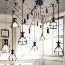 industrial kitchen lighting. 10 Light Country Style Industrial Kitchen Lighting Pendants H