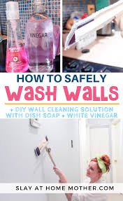 how to clean walls without removing or