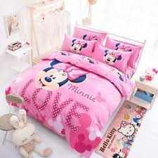 bed sheets for kids. Image Is Loading Cartoon-Minnie-Mickey-Mouse-Bed-Duvet-Cover-Set- Bed Sheets For Kids