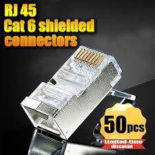 17 best ideas about cat6 kabel ladekabel büro 50pcs lot rj45 connector cat6 shielded network connectors rj45 plug terminals for stp ethernet cable
