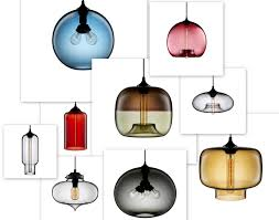 Blown Glass Pendant Lighting For Kitchen Hand Blown Glass Pendant Lights Niche Pod Modern Pendants Kitchen