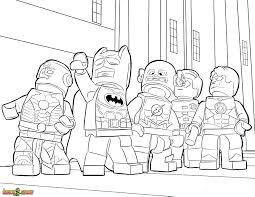 Small Picture The LEGO Movie Coloring Page LEGO LEGO Justice League Printable