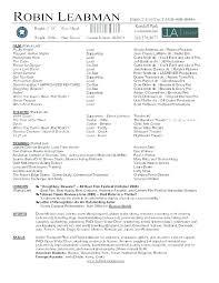 Resume Examples For Actors Beginner Acting Resume Sample Acting Resumes Actor Resume Format