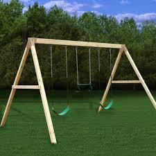 settler a frame wooden swing set kit 3 swings