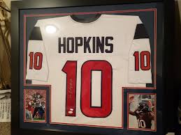 Ideal gift for family and. Framed Deandre Hopkins Signed Houston Texans Jersey Jsa