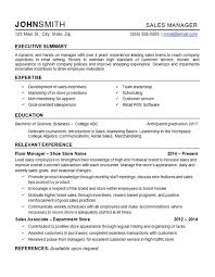 Good Resume Examples Retail Retail Manager Resume Example Department Store