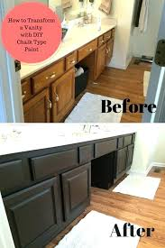 painting bathroom vanity transformation with chalk type paint farm fresh vintage finds how to countertop transformati