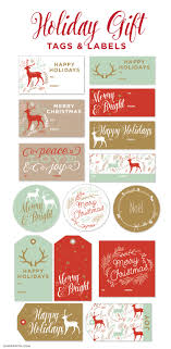 Holiday Address Label Templates Printable Holiday Gift Labels Tags By The Lia Griffith