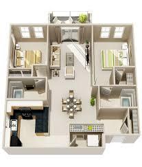 23 two bedroom two bath floor plan