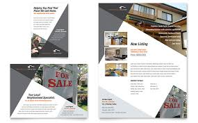 Contemporary Modern Real Estate Flyer Ad Template Word