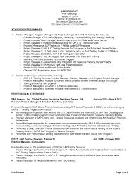 Sap Project Manager Resume Resume Online Builder