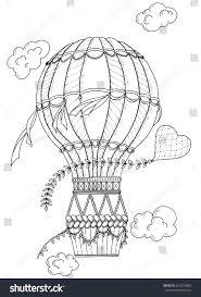 Summer Theme Black White Air Balloon Stock Vector 422274802 ...