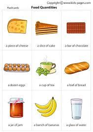 Food Flash Cards Food Quantities Flashcard