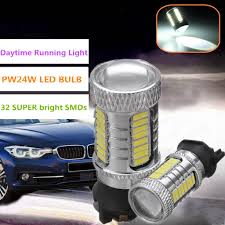 Bmw 1 Series Daytime Running Light Bulb Pair Pw24w 33 Led Smd Xenon White Bulb Drl Light For Bmw F30 3 Series