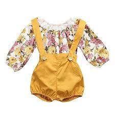 Next Direct Size Chart Eiffel Direct Baby Girls Floral Romper Jumpsuit Suspenders Pants Outfits Set