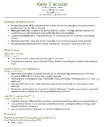 Other Qualifications Resumes Hola Klonec Summary Of