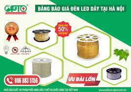 báo giá đèn led dây 3 hàng bóng – ĐÈN LED OPTO