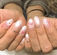 桜ネイル 春ネイル グラデーションネイル ピンクネイル デザイン追加