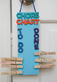 How To Make A Creative Chart 19 Creative Diy Chore Charts That Really Work Shelterness