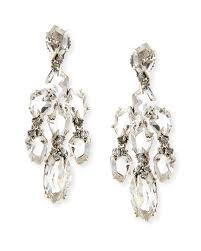 alexis bittar fine small chandelier earrings w quartz green sapphire diamonds