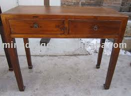 chinese antique two drawer old wood colour writing desk solid wood writing desk antique solid writing desk shanxi style old look console on