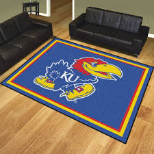 University of Kansas Jayhawks Area Rug  Nylon 8u0027 x 10u0027