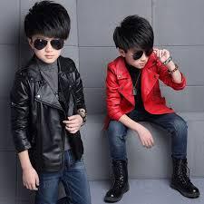 new kids jackets kids pu leather jacket boys coat autumn pu leather jacket fashion childrens warm