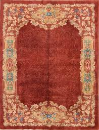 8 9 x 11 4 hand knotted antique wool chinese art deco red rug 12980515 goodluck rugs