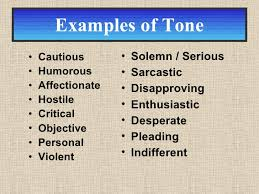 examples of tone co tone and mood