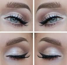 photos of eye makeup for a white dress