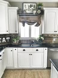 farmhouse kitchen decor shelf over sink in kitchen