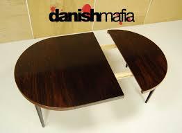 mid century danish rosewood round dining table 6