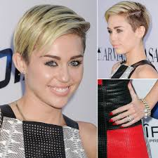 Miley Cyrus Hair Style check out mileys transparent manicure and her huge engagement 2816 by wearticles.com