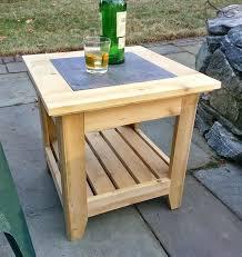 handmade cedar patio side table with a tile inlay small folding patio side table small plastic patio side table small patio side table canada