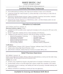 Pharmacy Technician Resume Examples Fascinating Example Of Pharmacy Technician Resume Sample Free Resumes Tips 48