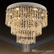 high end luxury led crystal ceiling chandeliers modern creative led chandelier light pendent lamps for living room villa hotel home hall 3 4 5 layers led